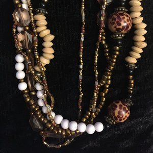 Jewelry - Earth Tone Beaded Necklace